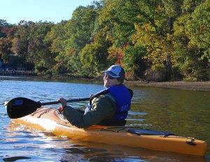 Sherry paddling Mattawoman